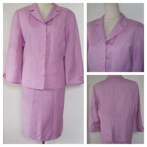KASPER ASL Orchid Pink Skirt Suit 14